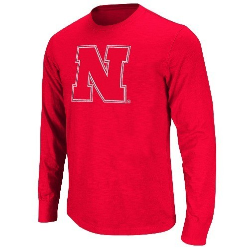 Nebraska Cornhuskers Touchdown Dual Blend Soft Premium Long Sleeve T-shirt