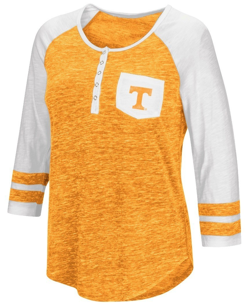 Tennessee volunteers ncaa women 39 s inconceivable 3 4 for 3 4 henley shirt