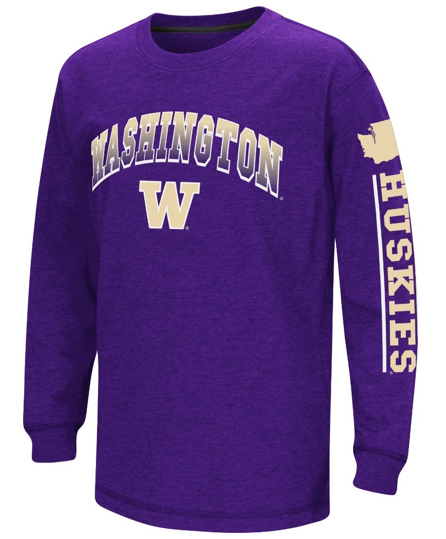 Washington Huskies Ncaa Grandstand Long Sleeve Dual