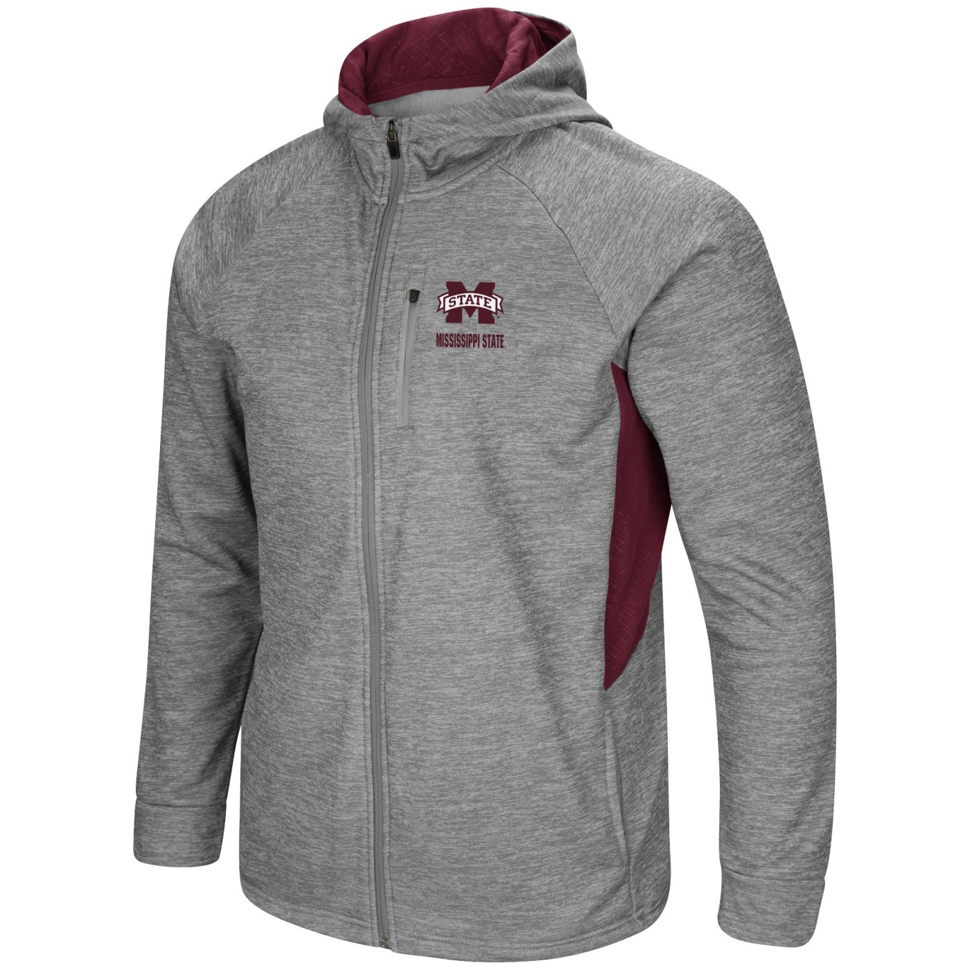 Colosseum Mississippi State Bulldogs NCAA Swing Pass Mens Full Zip Hooded Jacket