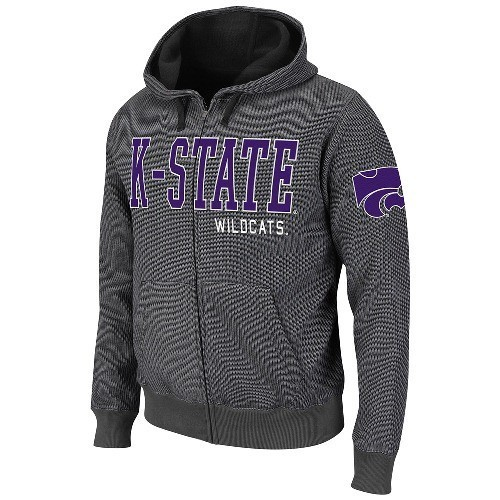 KANSAS STATE WILDCATS YOUTH PURPLE EMBROIDERED HOODED SWEATSHIRT NEW