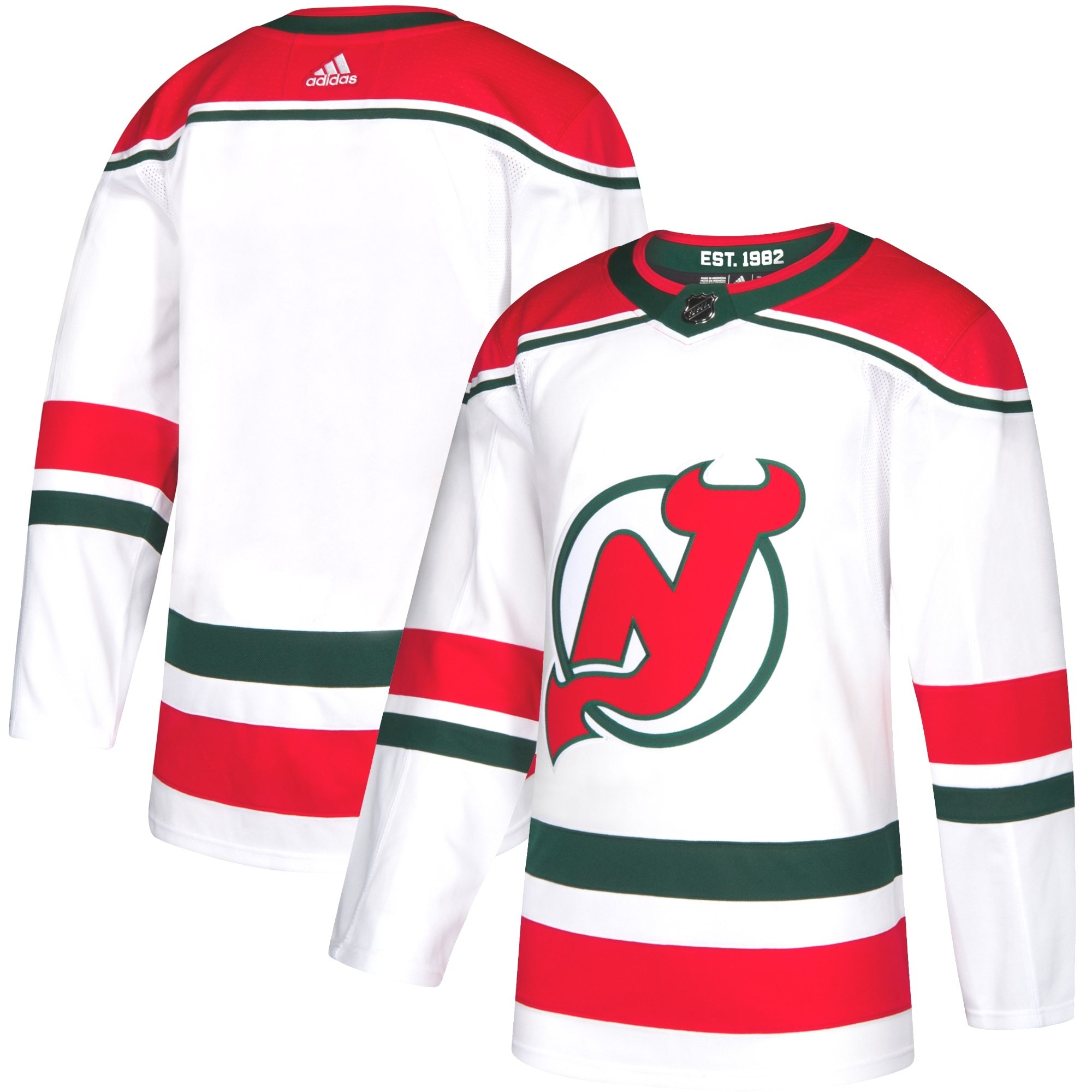 timeless design fee41 78cfa New Jersey Devils Adidas NHL Men's Climalite Authentic Alternate Hockey  Jersey