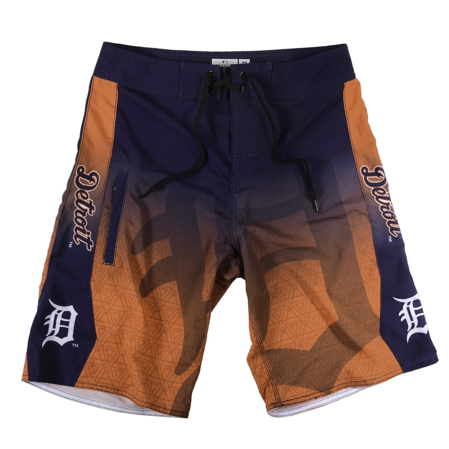 "Detroit Tigers MLB ""Gradient"" Men's Boardshorts Swim Trunks"
