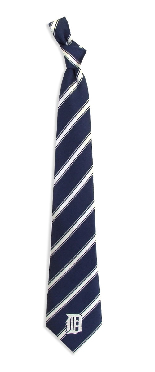"""Detroit Tigers MLB """"Woven Poly 1"""" Men's Woven Polyester Tie"""