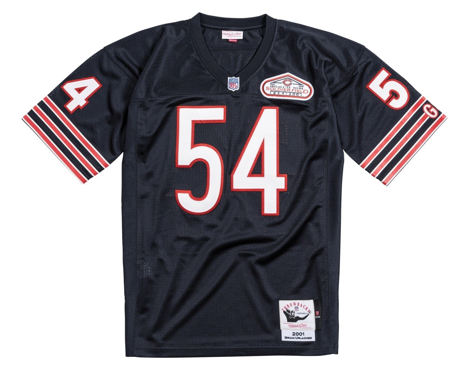 d051fcc9df3 Details about Brian Urlacher Chicago Bears NFL Mitchell & Ness Authentic  2001 Jersey