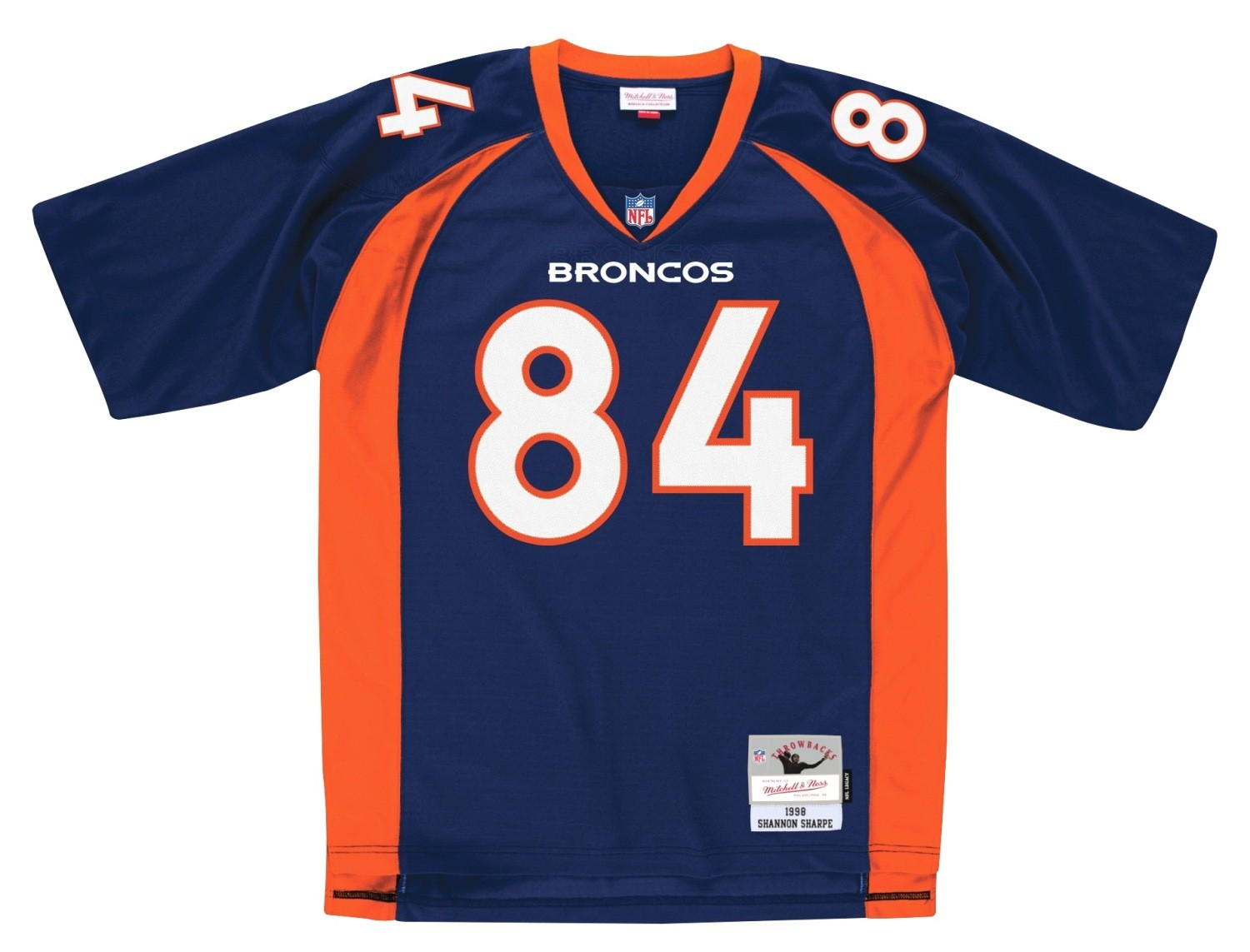 ec976c44e Shannon Sharpe Denver Broncos NFL Mitchell & Ness Throwback Premier Navy  Jersey