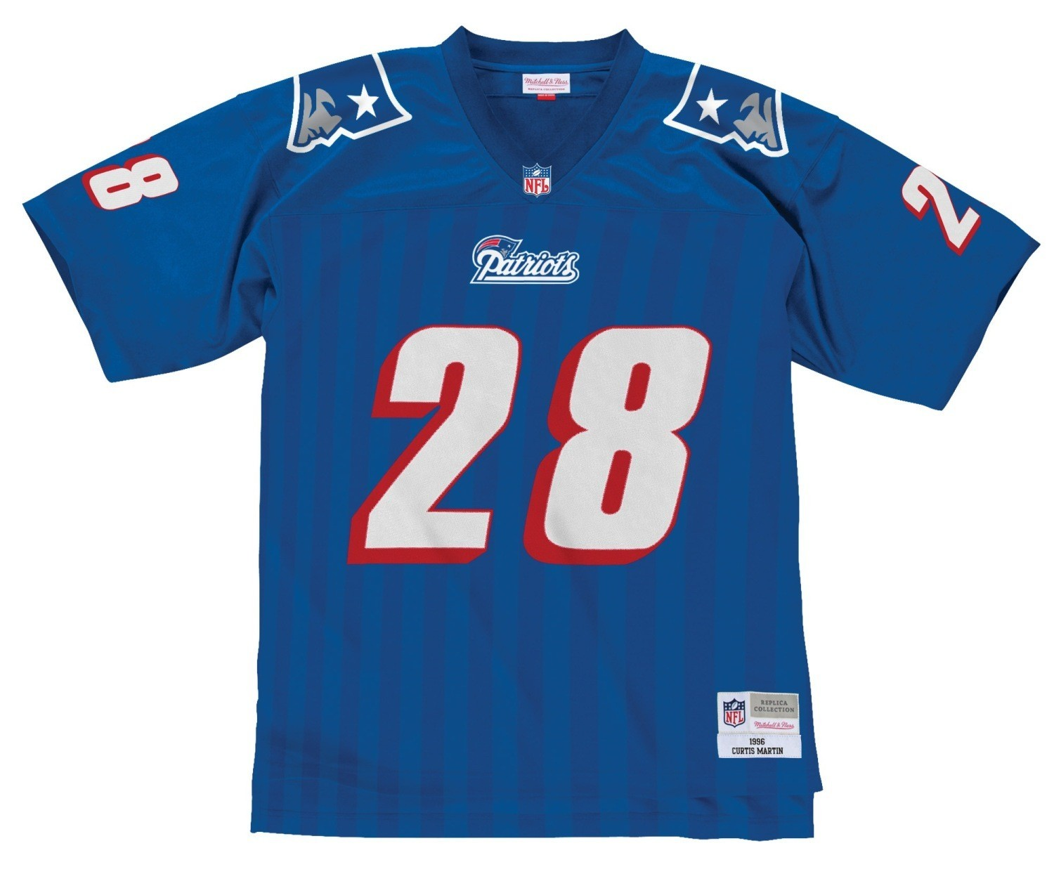 separation shoes 278f3 14163 Details about Curtis Martin New England Patriots NFL Mitchell & Ness  Throwback Premier Jersey