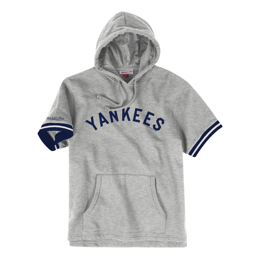 new concept e2c0a e3f8a Details about New York Yankees Mitchell & Ness MLB Men's Drills Short  Sleeve Hooded Sweatshirt