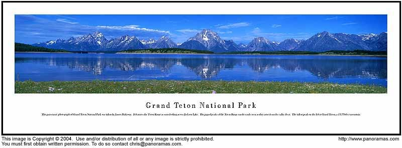 Grand Teton National Park 13.5x40 Panoramic Photo