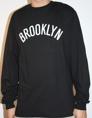 "Brooklyn Nets Adidas NBA ""Dime"" Long Sleeve T-Shirt - Black"