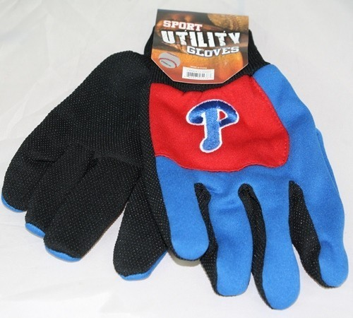 Philadelphia Phillies MLB Colorblock Blue Finger Work Gloves