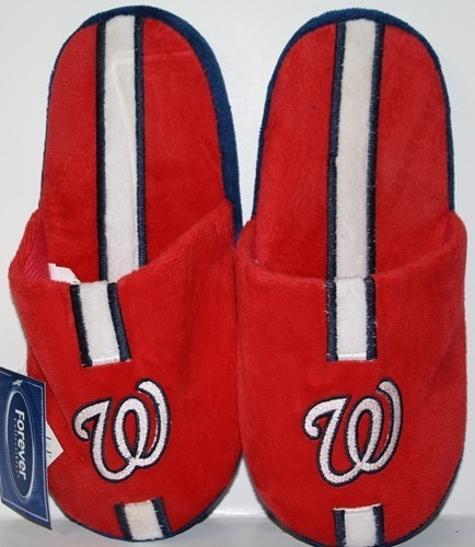 Washington Nationals MLB Team Stripe Slide Slippers