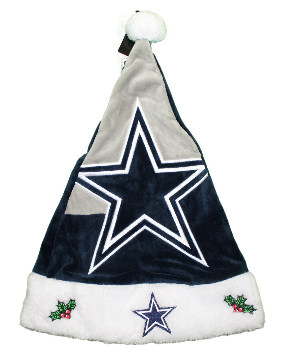 ffd6c8fad Details about Dallas Cowboys 2018 NFL Basic Logo Plush Christmas Santa Hat