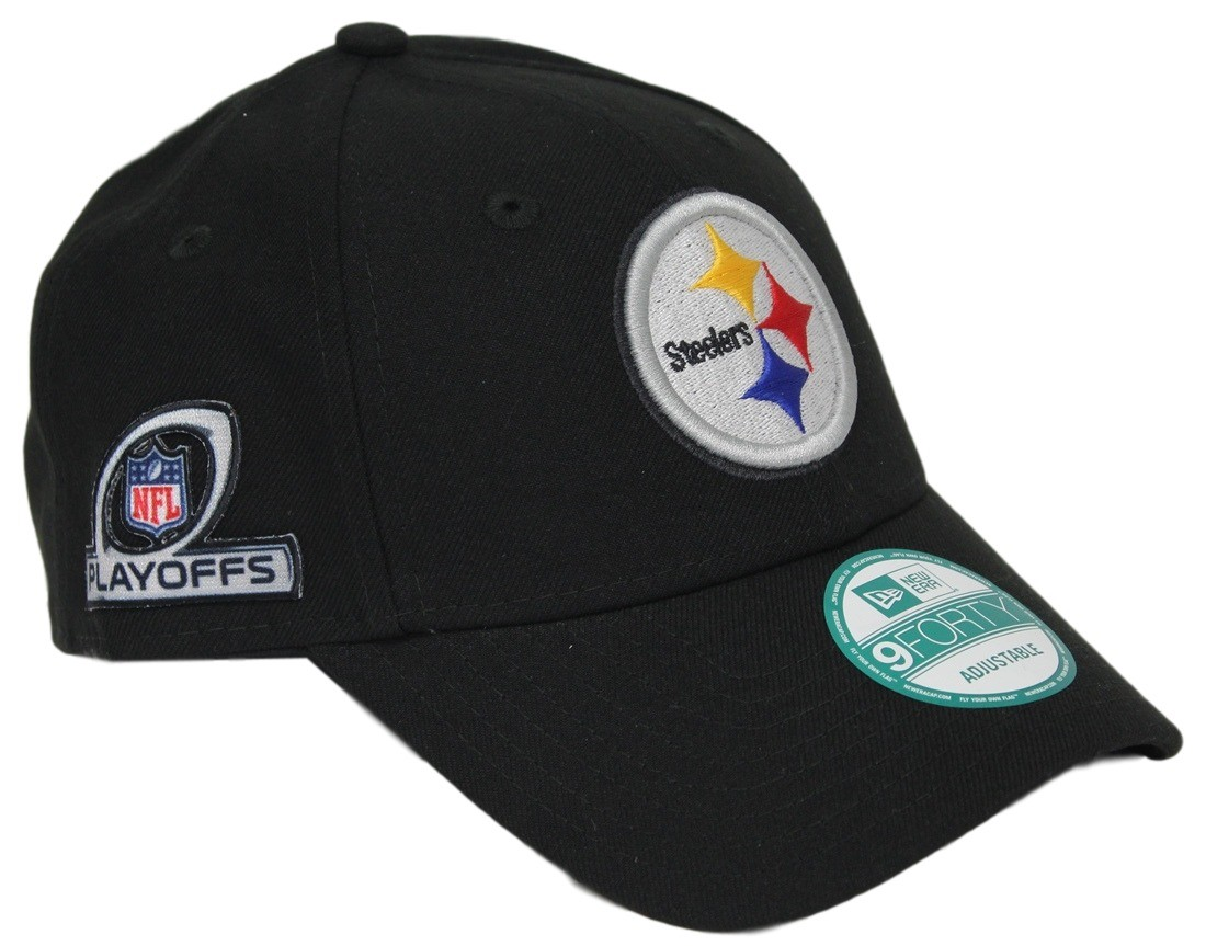 Pittsburgh Steelers New Era 9Forty NFL The League Playoff Patch Adjustable  Hat 20829bfd7