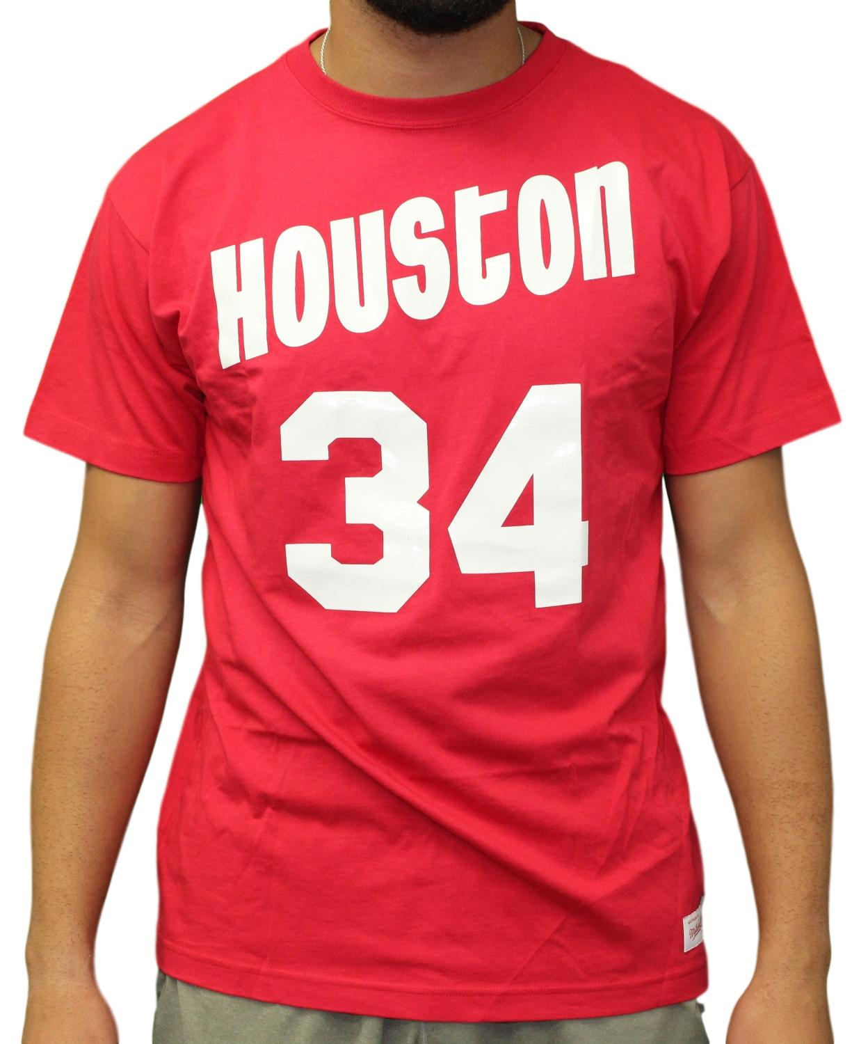7c219dae1 Details about Hakeem Olajuwon Houston Rockets Mitchell   Ness NBA Men s