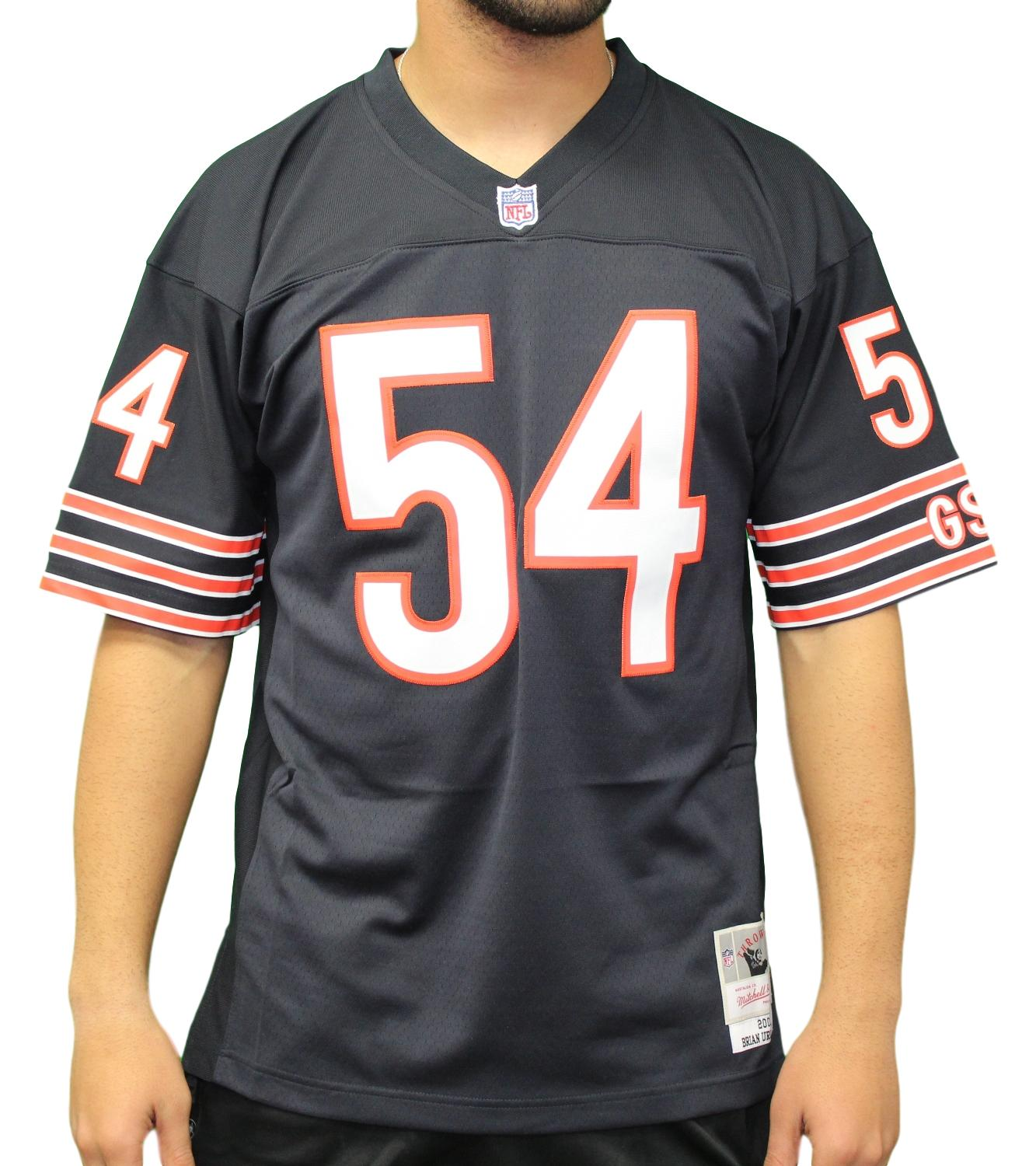 104430ab4e6 Details about Brian Urlacher Chicago Bears NFL Mitchell & Ness 2001  Throwback Premier Jersey