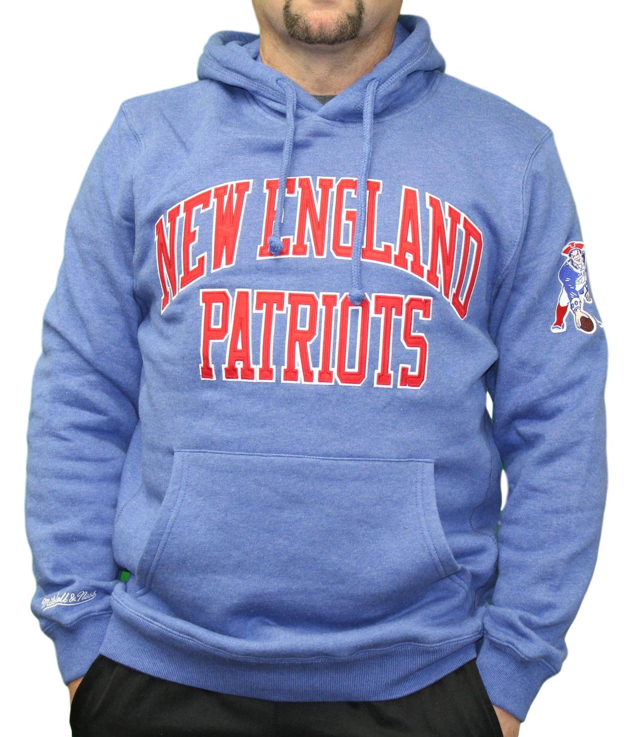 New England Patriots Mitchell   Ness NFL Playoff Win Pullover Hooded  Sweatshirt 809b294c4