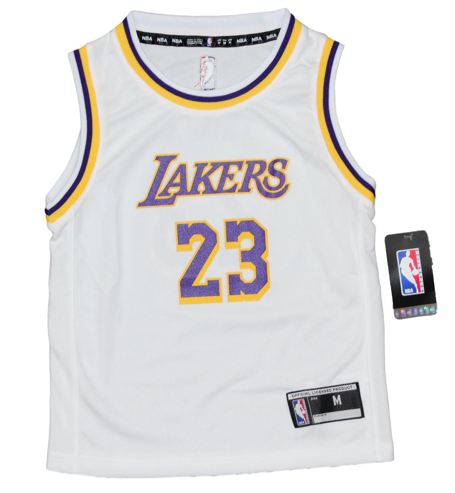 0ff4aa24258 Details about Lebron James Los Angeles Lakers Kids 4-7 NBA Replica Jersey -  White