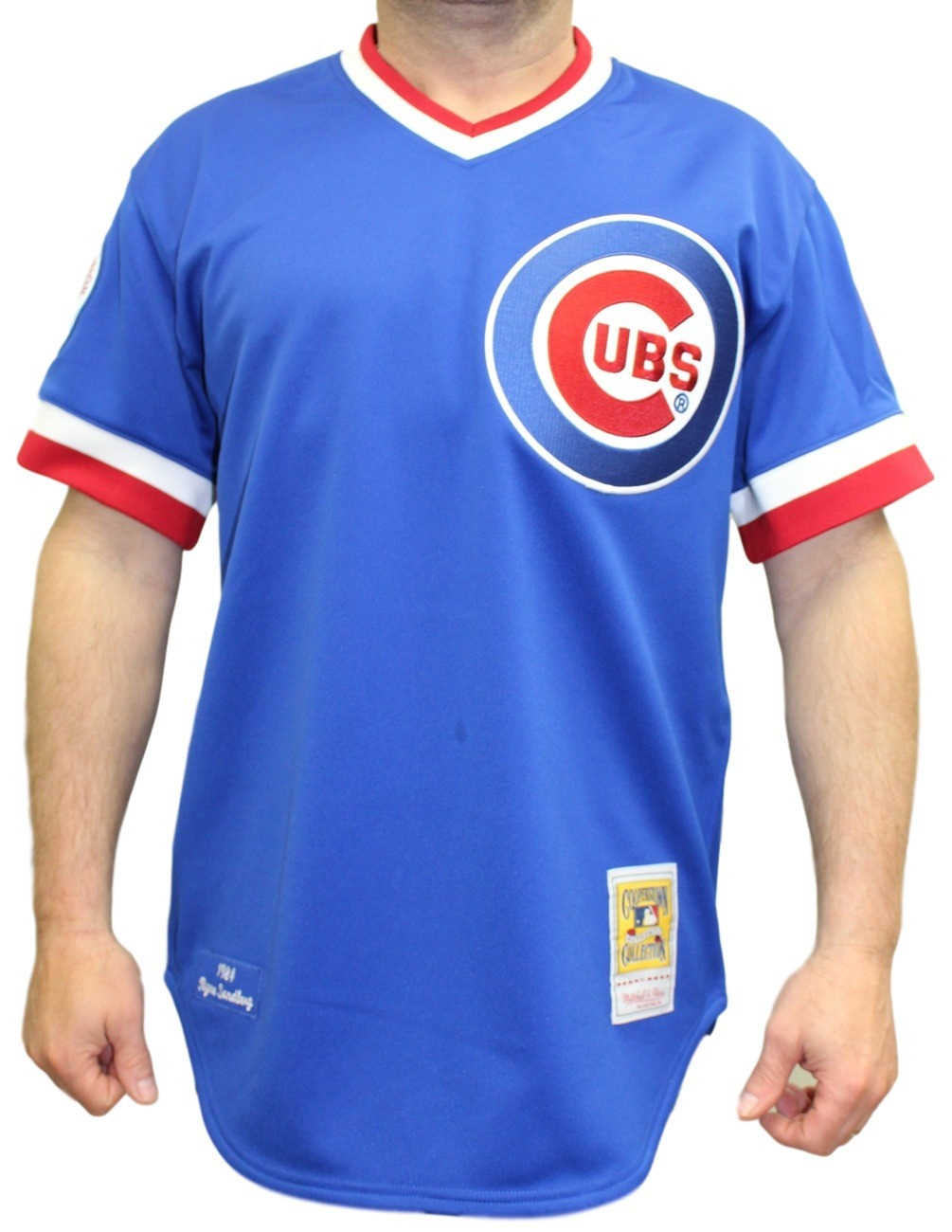 wholesale dealer c1ded e7b14 Details about Ryne Sandberg Chicago Cubs Mitchell & Ness Authentic MLB 1984  Pullover Jersey
