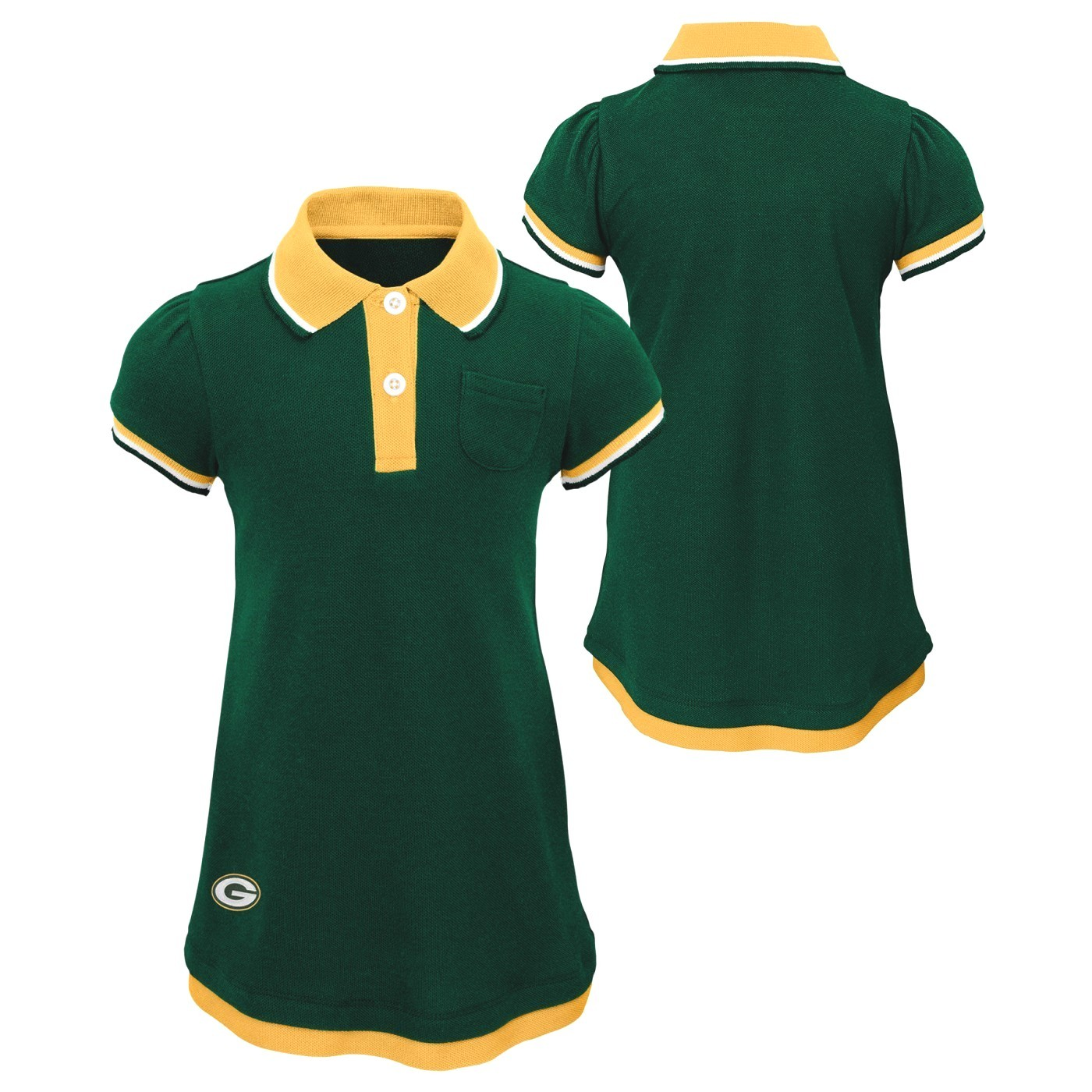 Details about Green Bay Packers NFL  Lil Cheer Coach  Toddler Girls Faux Layer Polo Dress  sc 1 st  eBay & Green Bay Packers NFL