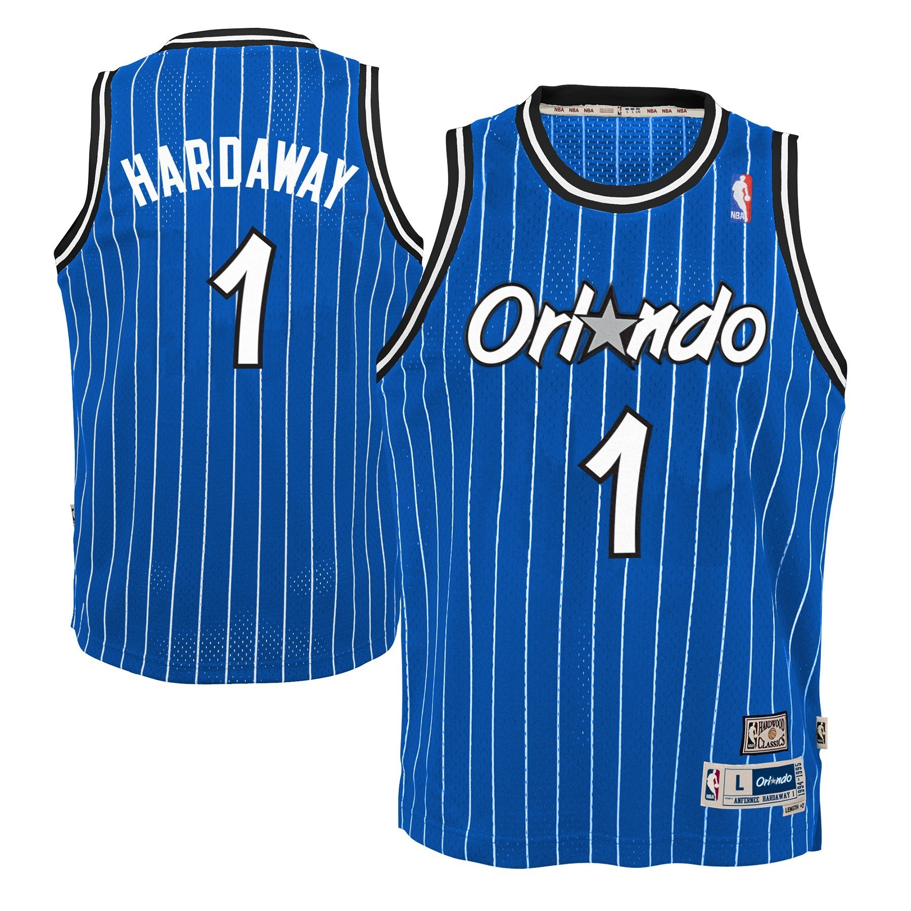 61e11ebf0 Details about Anfernee Hardaway Orlando Magic NBA Youth Throwback Swingman  Jersey - Blue