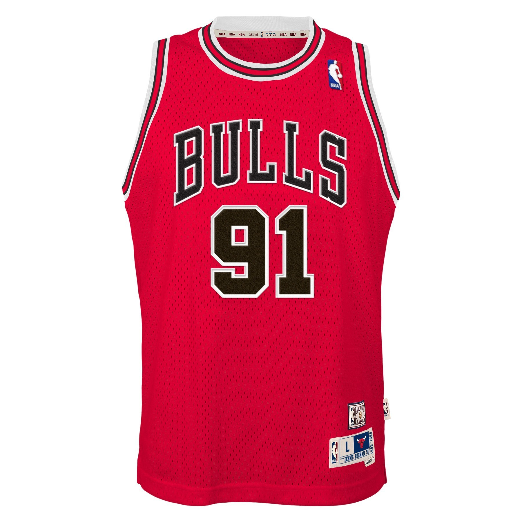 f9205164947 Details about Dennis Rodman Chicago Bulls NBA Youth Throwback Swingman  Jersey - Red