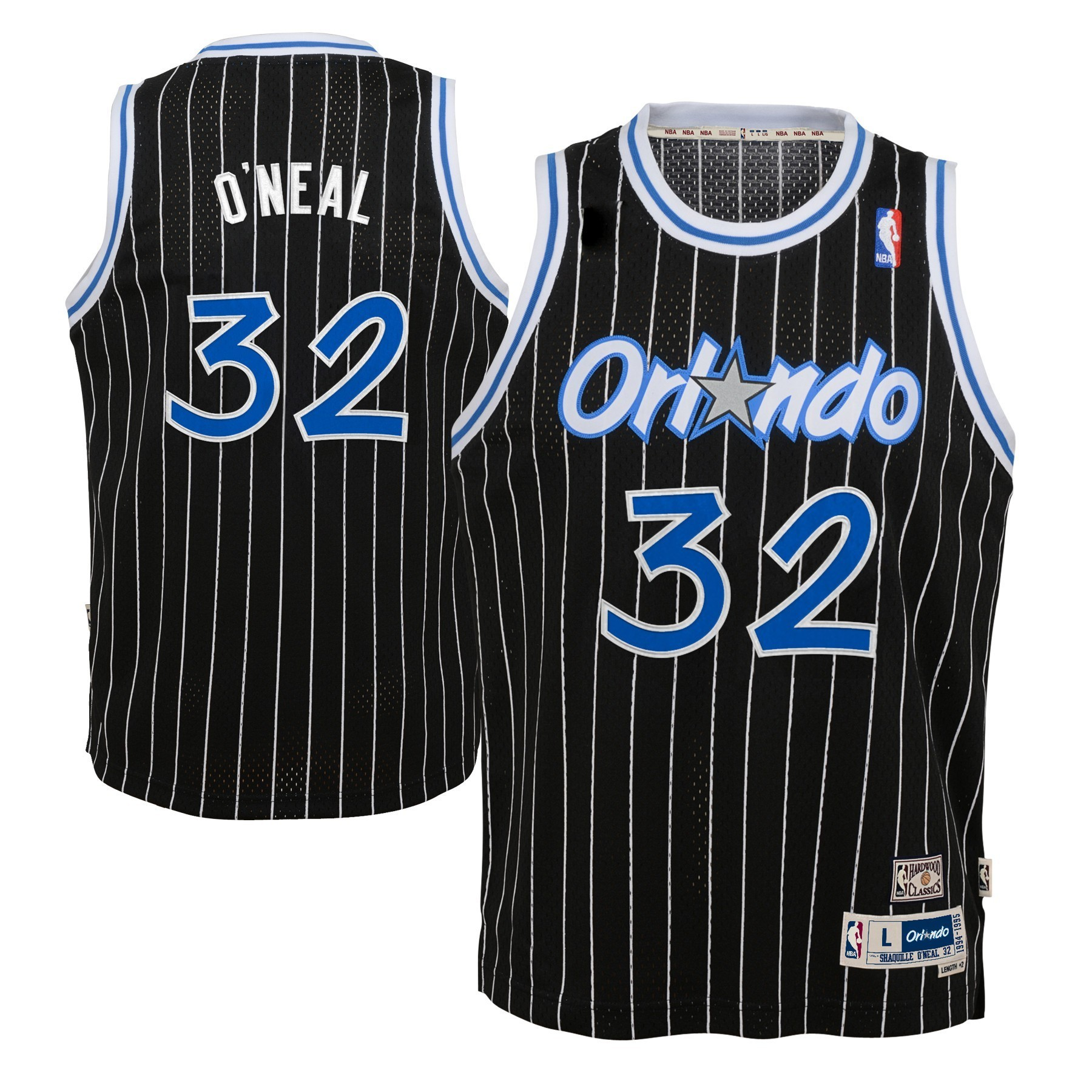 ec84f92e593 Details about Shaquille O'Neal Orlando Magic NBA Youth Throwback Swingman  Jersey - Black