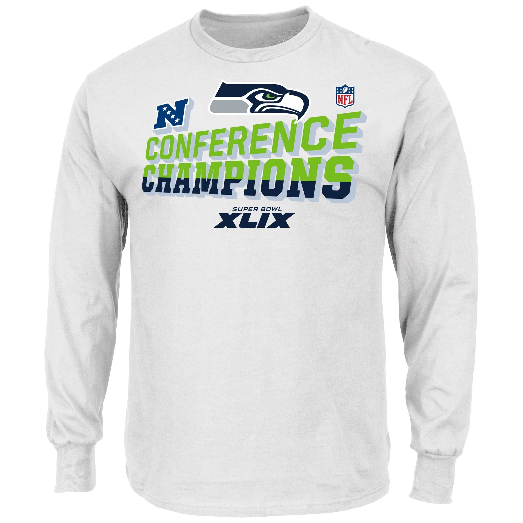 Seattle Seahawks Majestic 2014 NFC Conference Champions Locker Room L/S T-Shirt