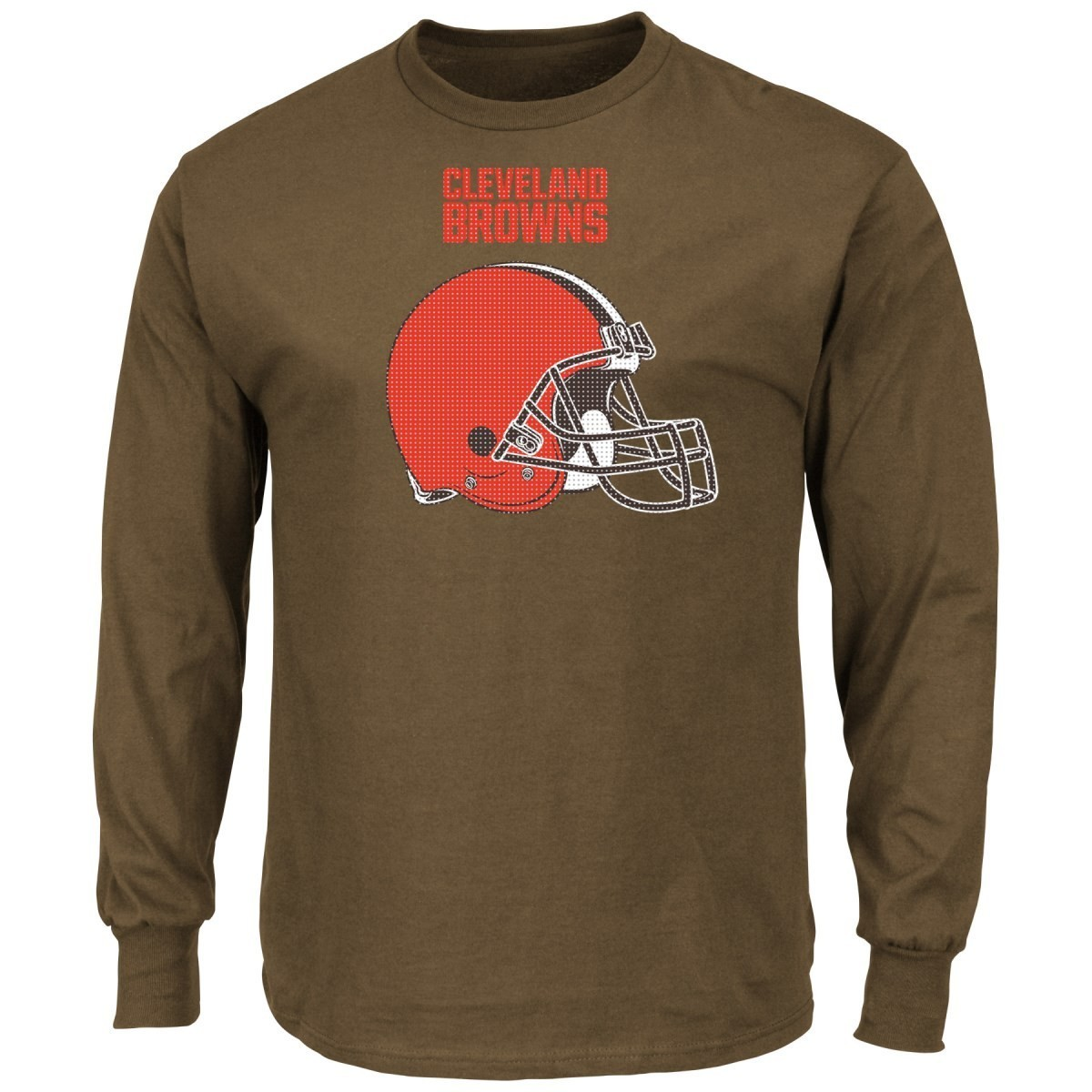 """Cleveland Browns Majestic NFL """"Critical Victory 2"""" Men's Long Sleeve T-Shirt"""