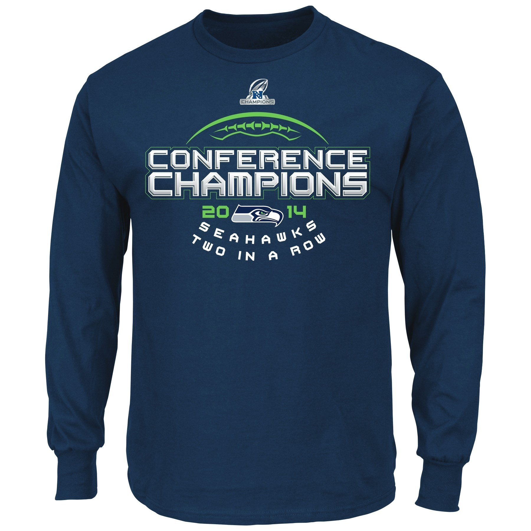 """Seattle Seahawks Majestic 2014 NFC Conference Champions """"Choice"""" L/S T-Shirt"""