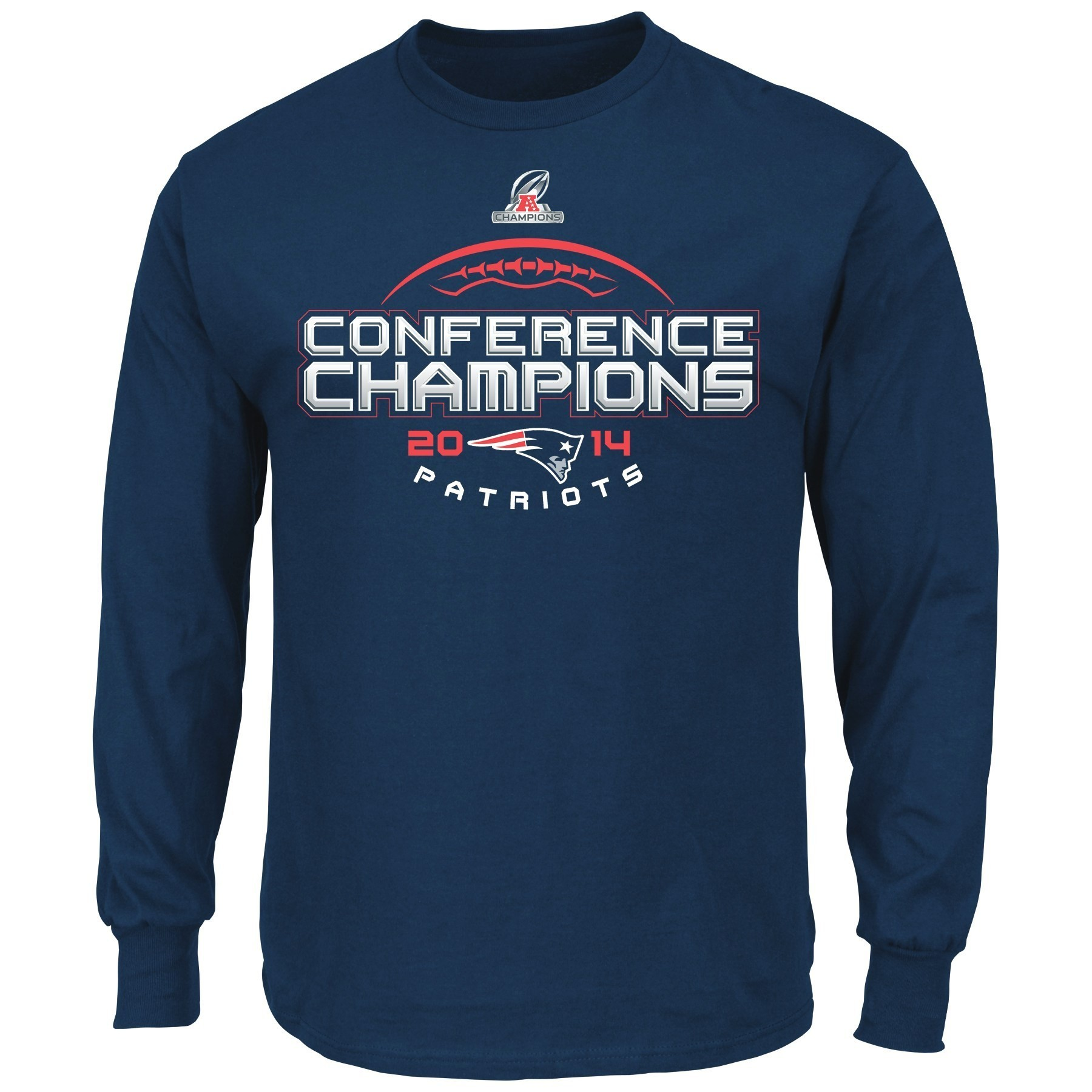 "New England Patriots Majestic 2014 AFC Conference Champions ""Choice"" L/S T-Shirt"