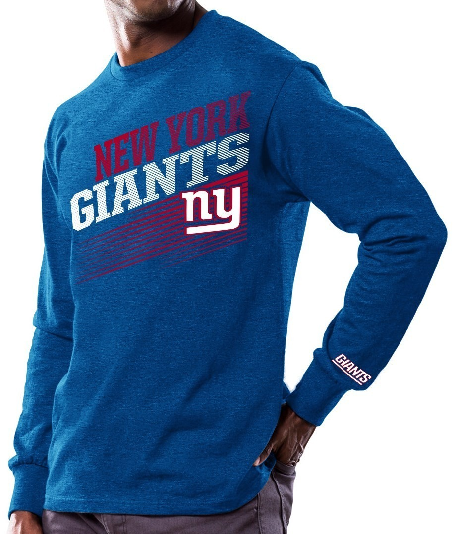 "New York Giants Majestic NFL ""Shed Blockers"" Long Sleeve Men's T-Shirt"