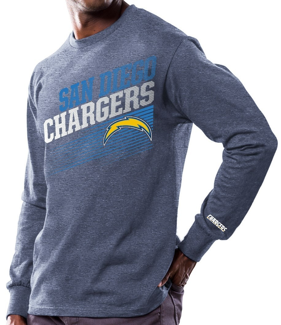 """San Diego Chargers Majestic NFL """"Shed Blockers"""" Long Sleeve Men's T-Shirt"""