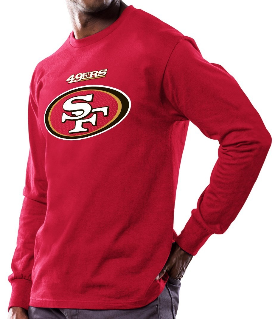 San Francisco 49ers Majestic NFL Critical Victory Men s Long Sleeve Red T- Shirt eae808847