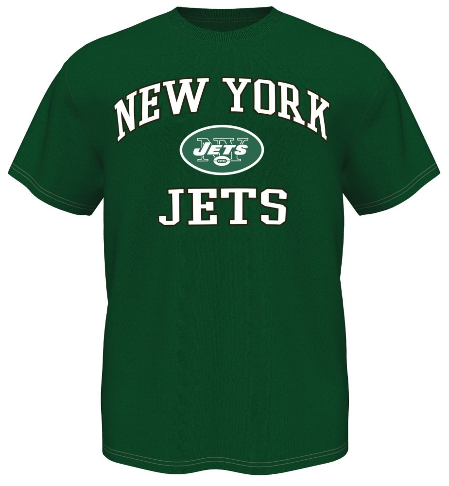 New York Jets Majestic NFL Heart & Soul III Men's Green T-Shirt