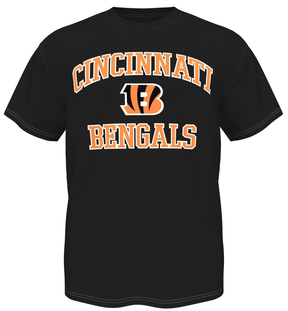 Cincinnati Bengals Majestic NFL Heart & Soul III Men's Black T Shirt  supplier