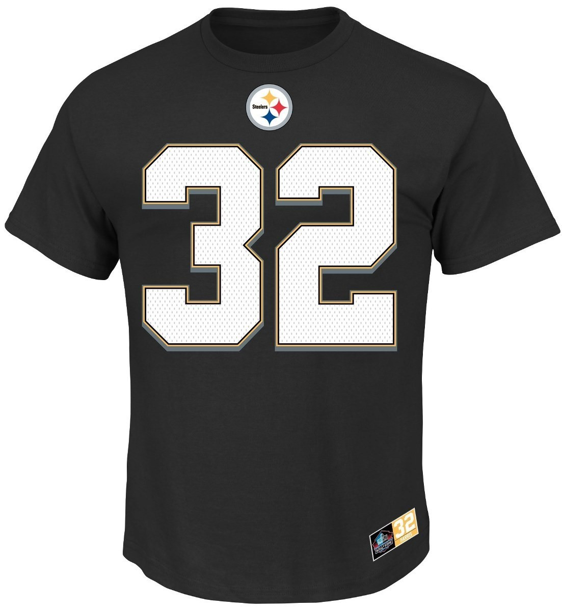 Franco Harris Pittsburgh Steelers Majestic NFL Eligible Receiver II HOF T-Shirt