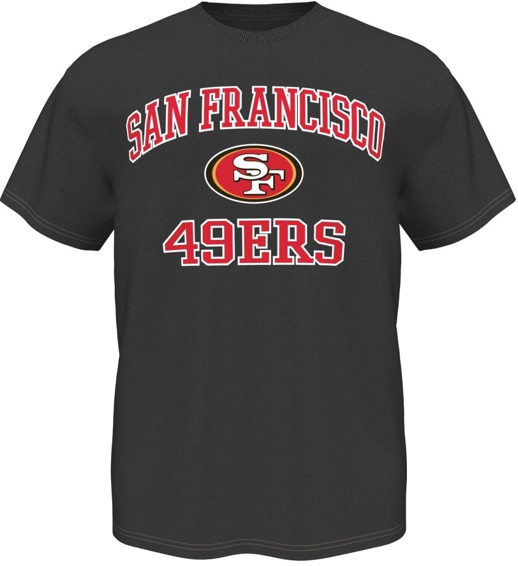 San Francisco 49ers Majestic NFL Heart & Soul III Charcoal Men's T-Shirt