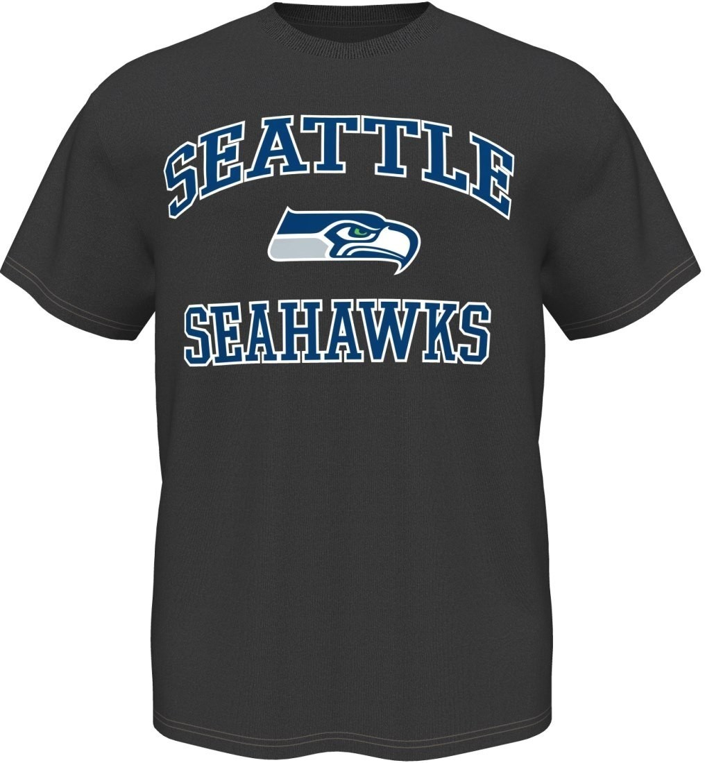 Seattle Seahawks Majestic NFL Heart & Soul III Charcoal Men's T-Shirt