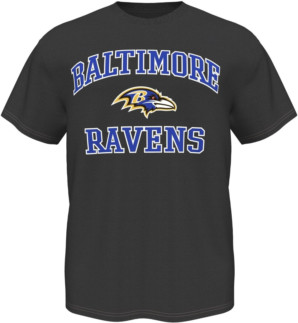 Baltimore Ravens Majestic NFL Heart & Soul III Charcoal Men's T-Shirt