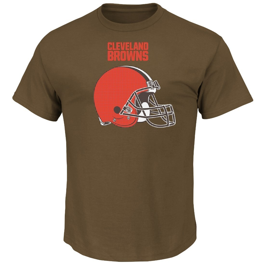 """Cleveland Browns Majestic NFL """"Critical Victory 2"""" Men's T-Shirt - Brown"""