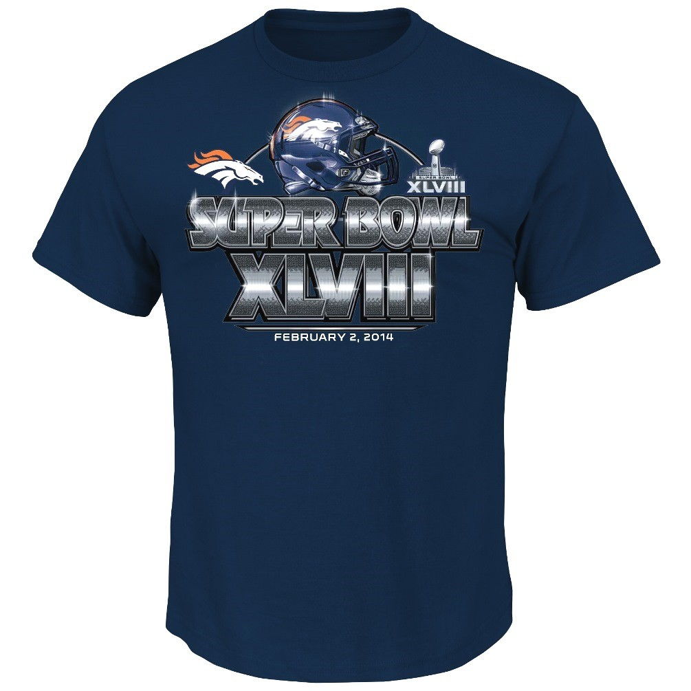 Denver Broncos Majestic NFL Super Bowl XLVIII On Our Way T-Shirt