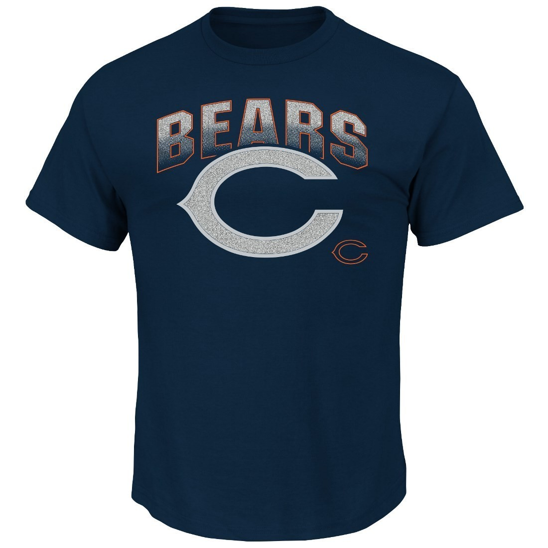 "Chicago Bears Majestic NFL 2015 ""Reflective"" Short Sleeve Men's Navy T-Shirt"