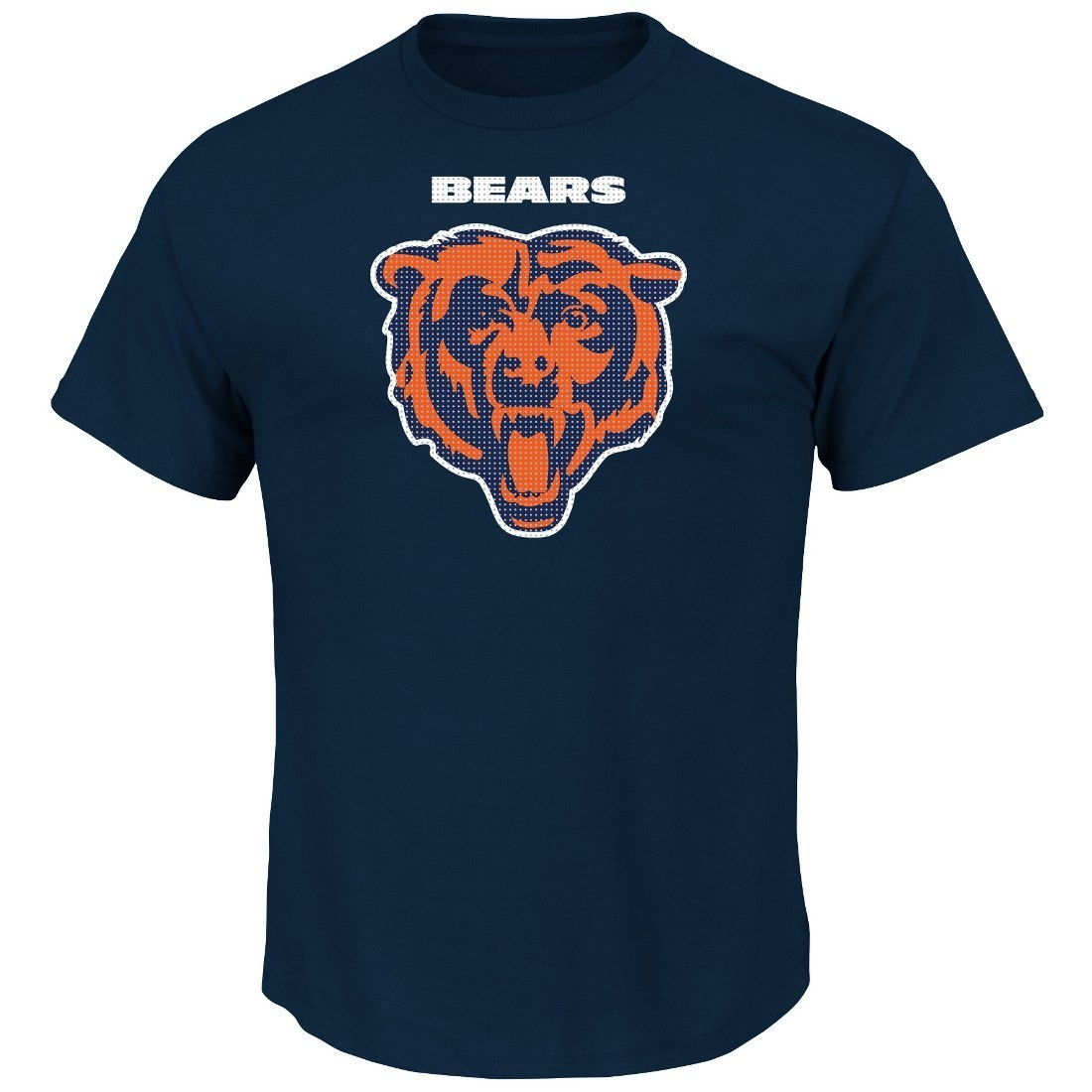 """Chicago Bears Majestic NFL """"Critical Victory 2"""" Men's T-Shirt - Navy"""