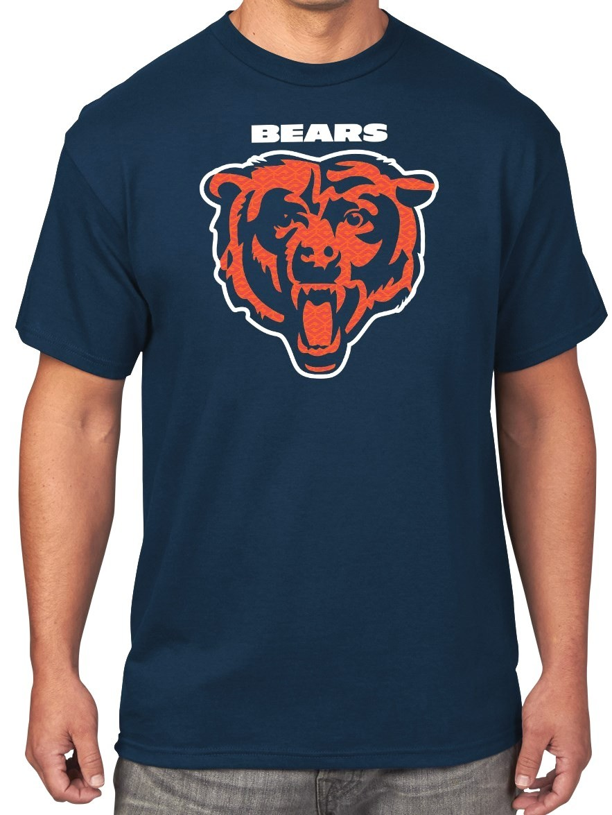 Chicago Bears Majestic NFL Critical Victory Men's T-Shirt - Navy
