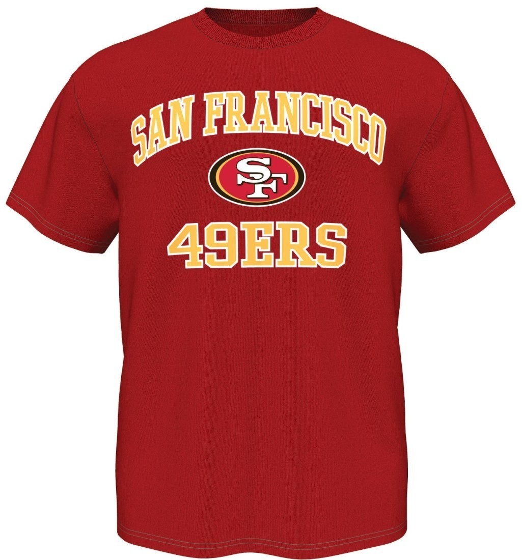 San Francisco 49ers Majestic NFL Heart & Soul III Men's T-Shirt - Red