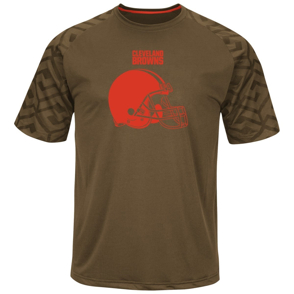 """Cleveland Browns Majestic NFL """"Skill in Motion"""" Men's Cool Base T-Shirt"""