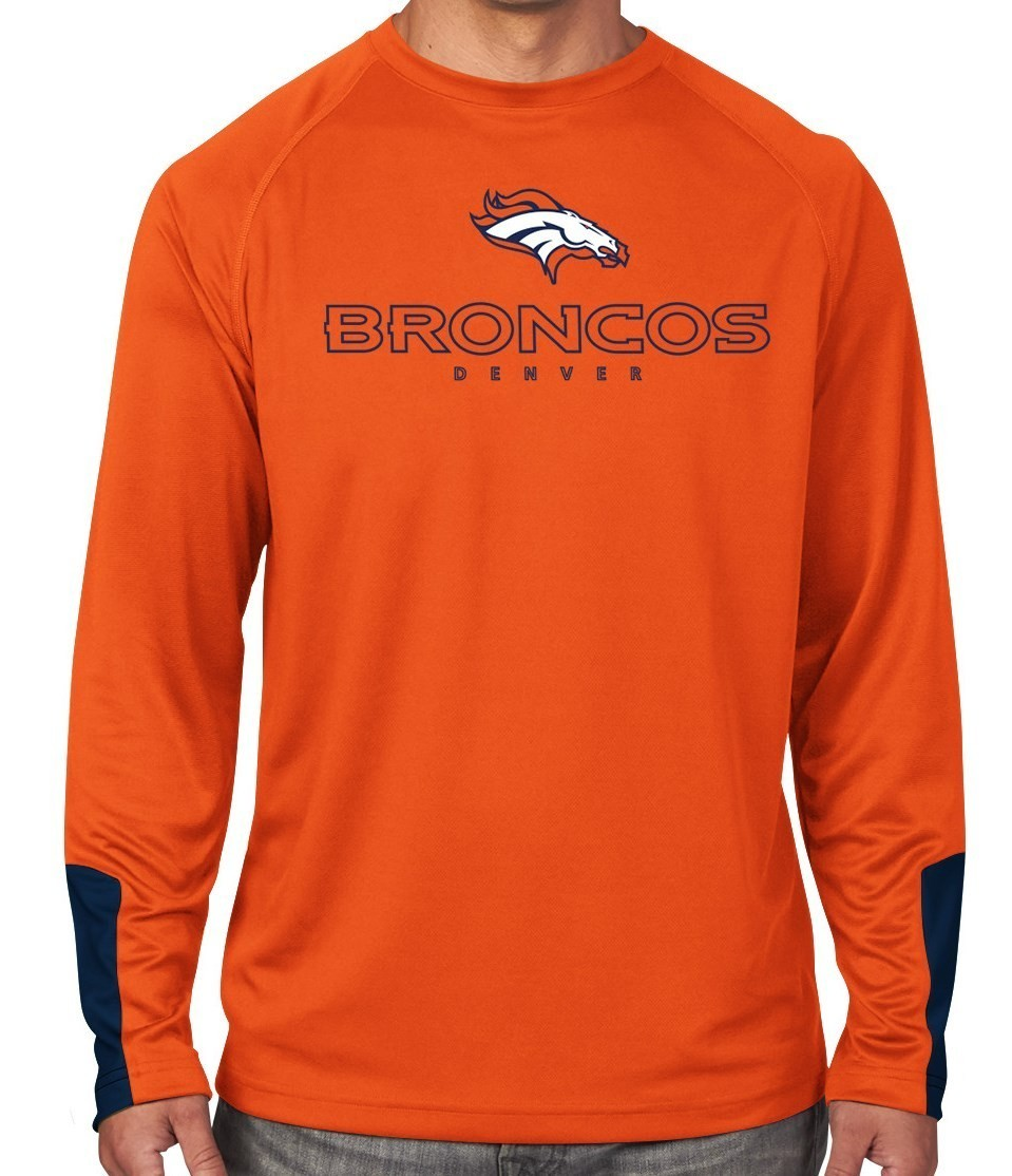 "Denver Broncos Majestic NFL ""Cutting"" Men's Cool Base Long Sleeve Shirt"