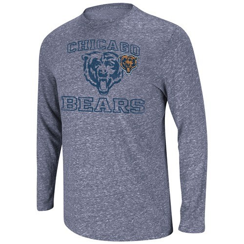 "Chicago Bears Majestic NFL ""Go Long III"" Long Sleeve Tri-Blend Shirt"