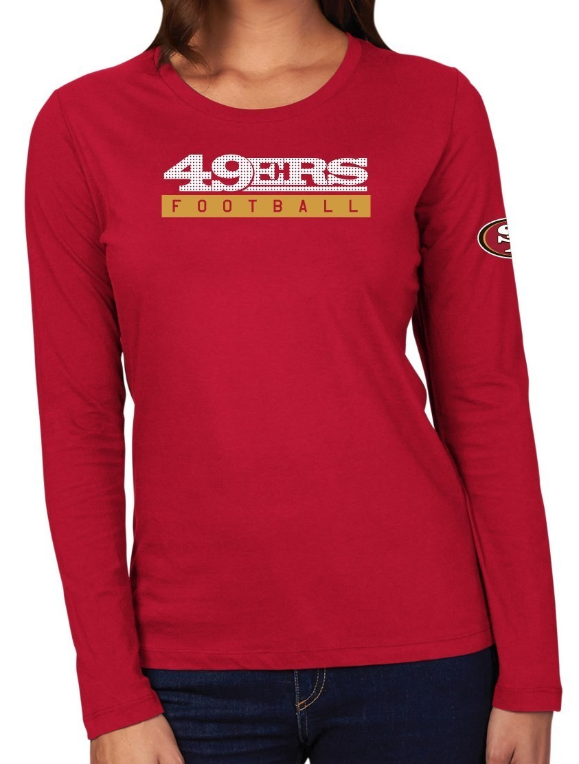 5ed3c2a0 San Francisco 49ers Womens Long Sleeve T Shirts